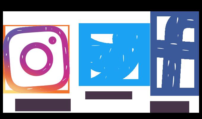 Facebook instagram twitter Logos