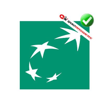 Green square white stars Logos acea2dcb295a