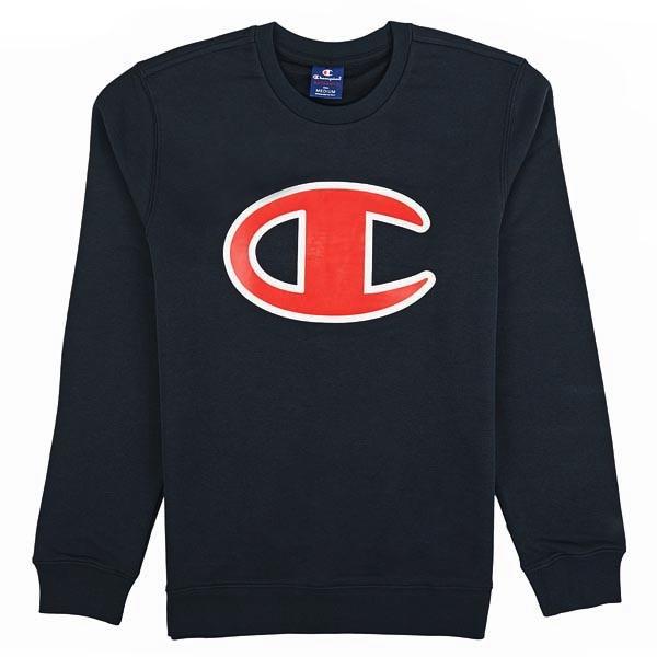 13352a8c Champion Crewneck Atlhetic Sweatshirt Big Logo (navy/red)
