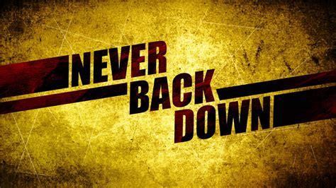 Never back down Logos