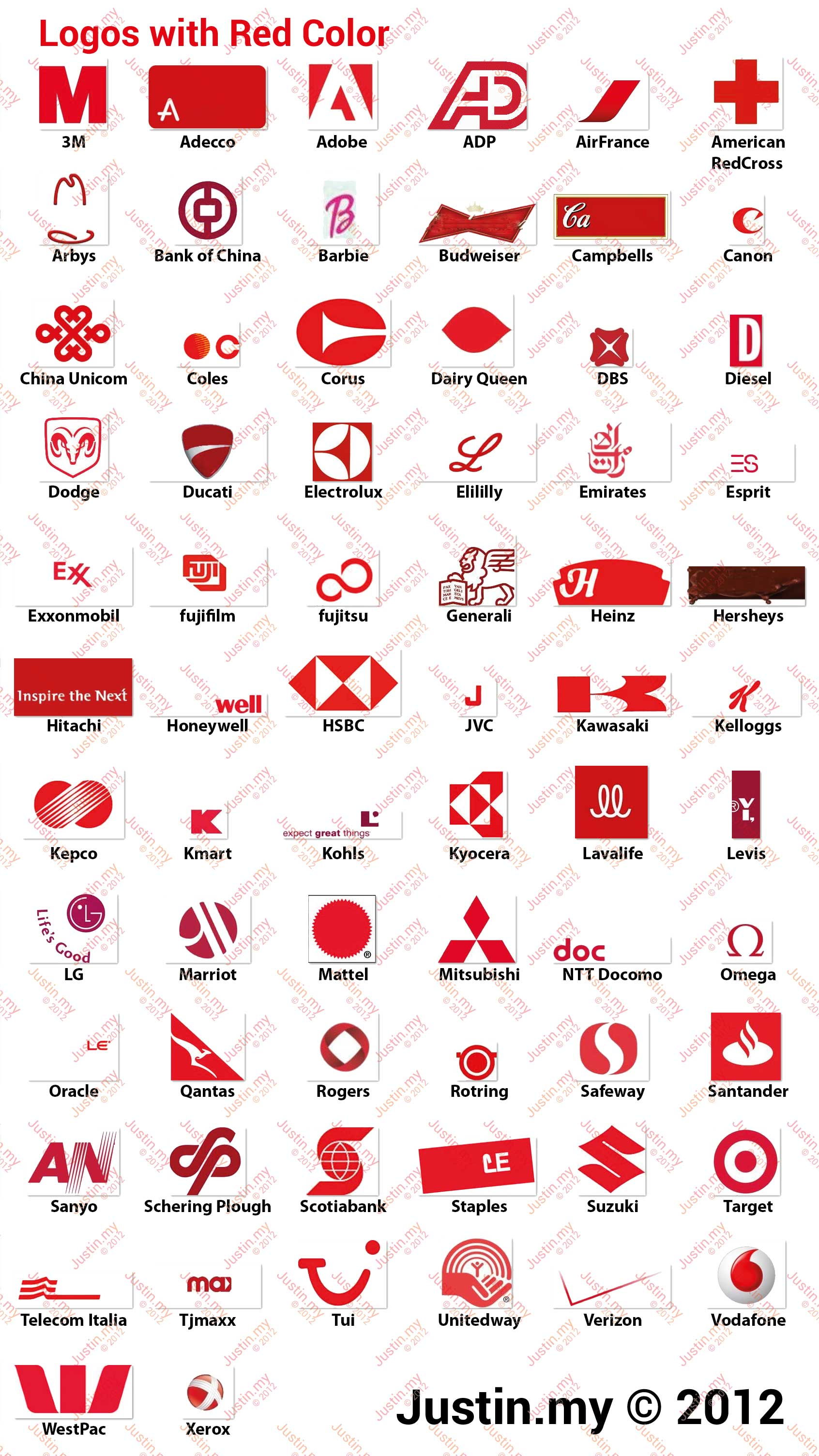 red and white mountain logos