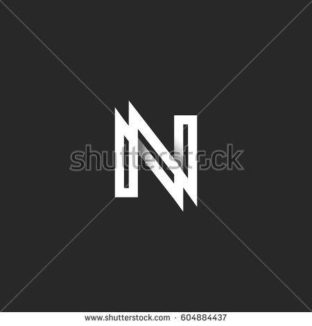 Black And White N Logos