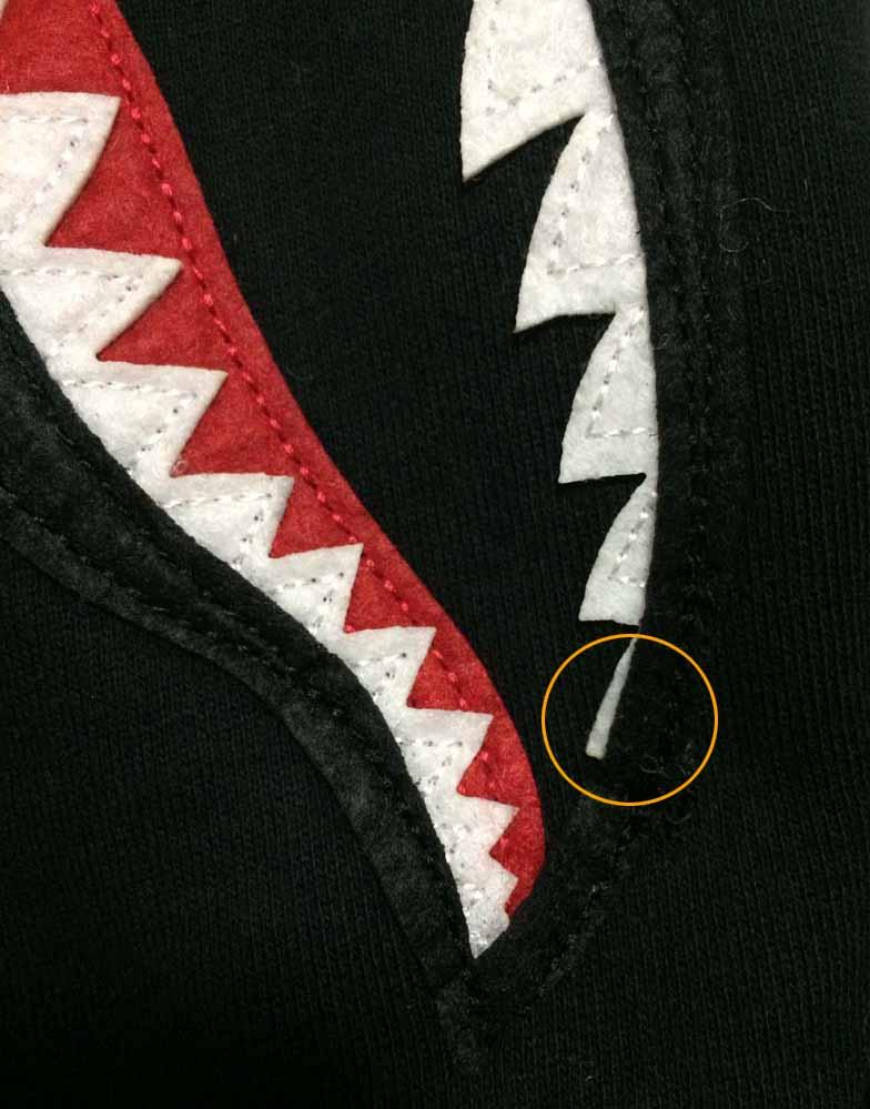 e382b594d315 Bape Sweat Shark Varsity Hoodie