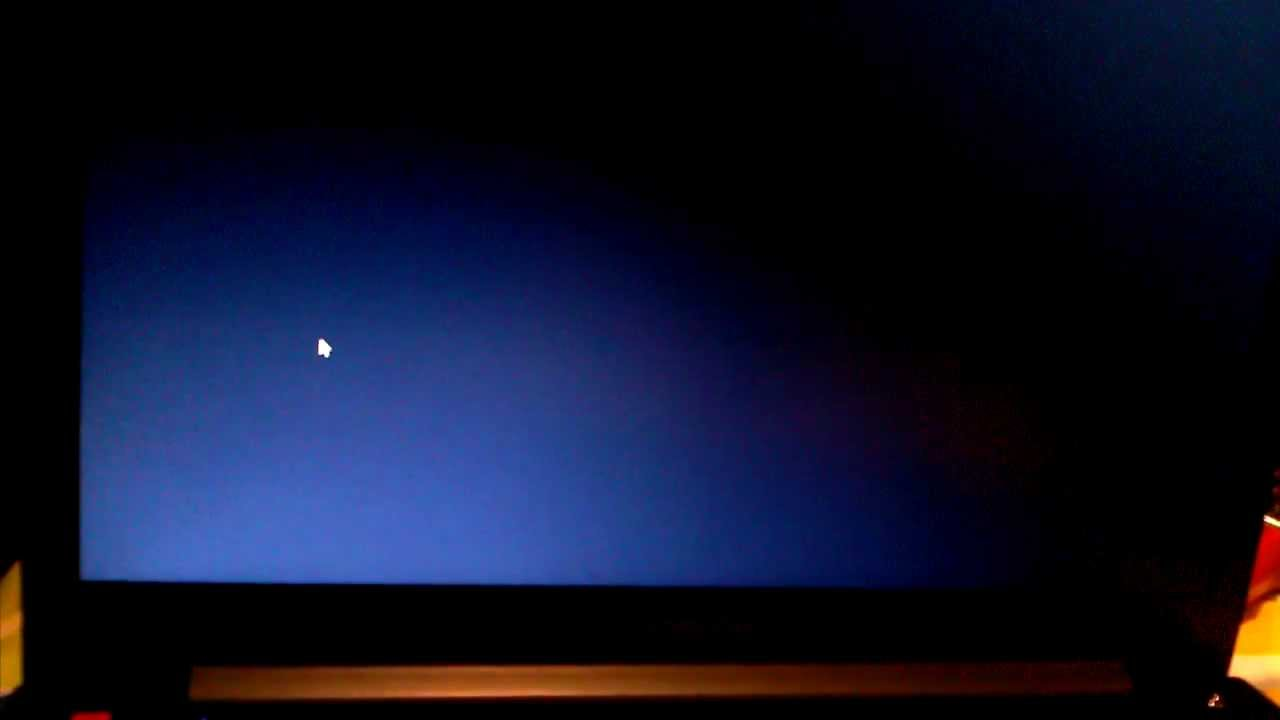 Black screen after windows Logos