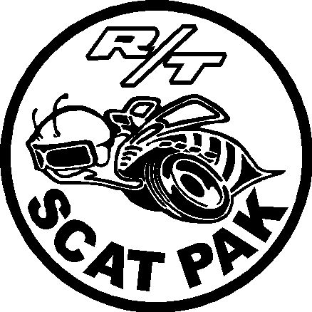 scat pack logos 1970 Plymouth Hemi Engine