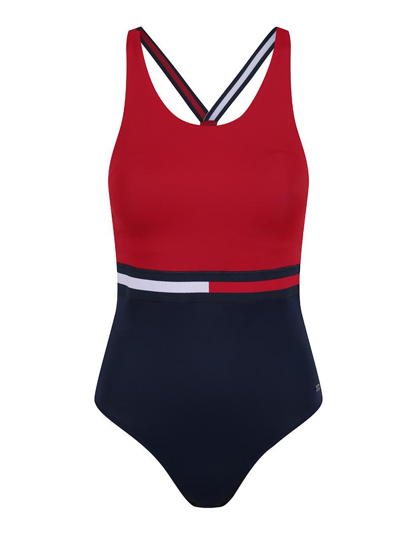 22d31bdeffb Tommy Hilfiger Women s Hanalei Colour Block Swimsuit .