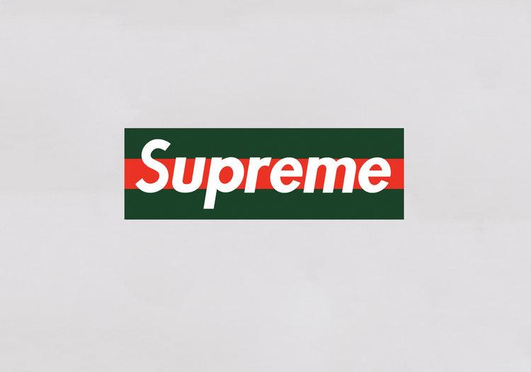 supreme x gucci box logos