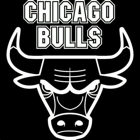 White Chicago Bulls Logos