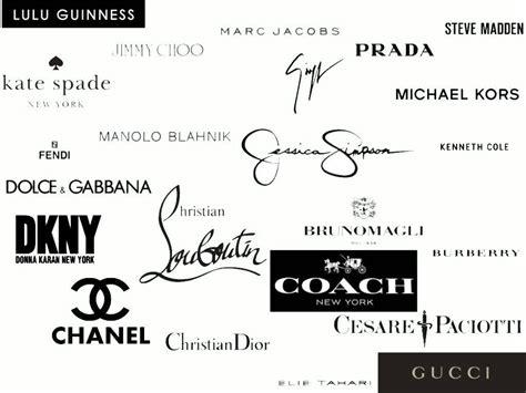 Designer shoe brand Logos