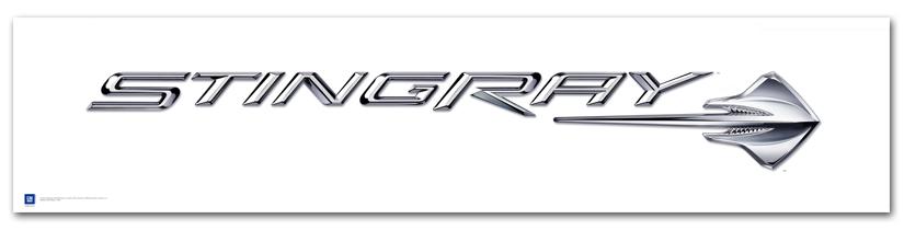 C7 Corvette Stingray Logo Poster Chevym