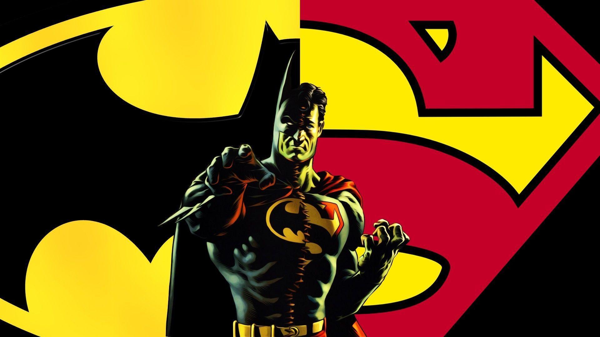 batman and superman logos
