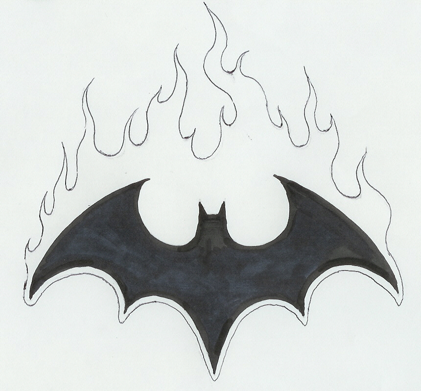 Batman Drawing Logos