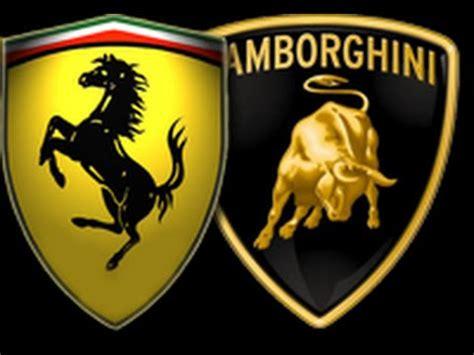 Lamborghini Vs Ferrari Logos