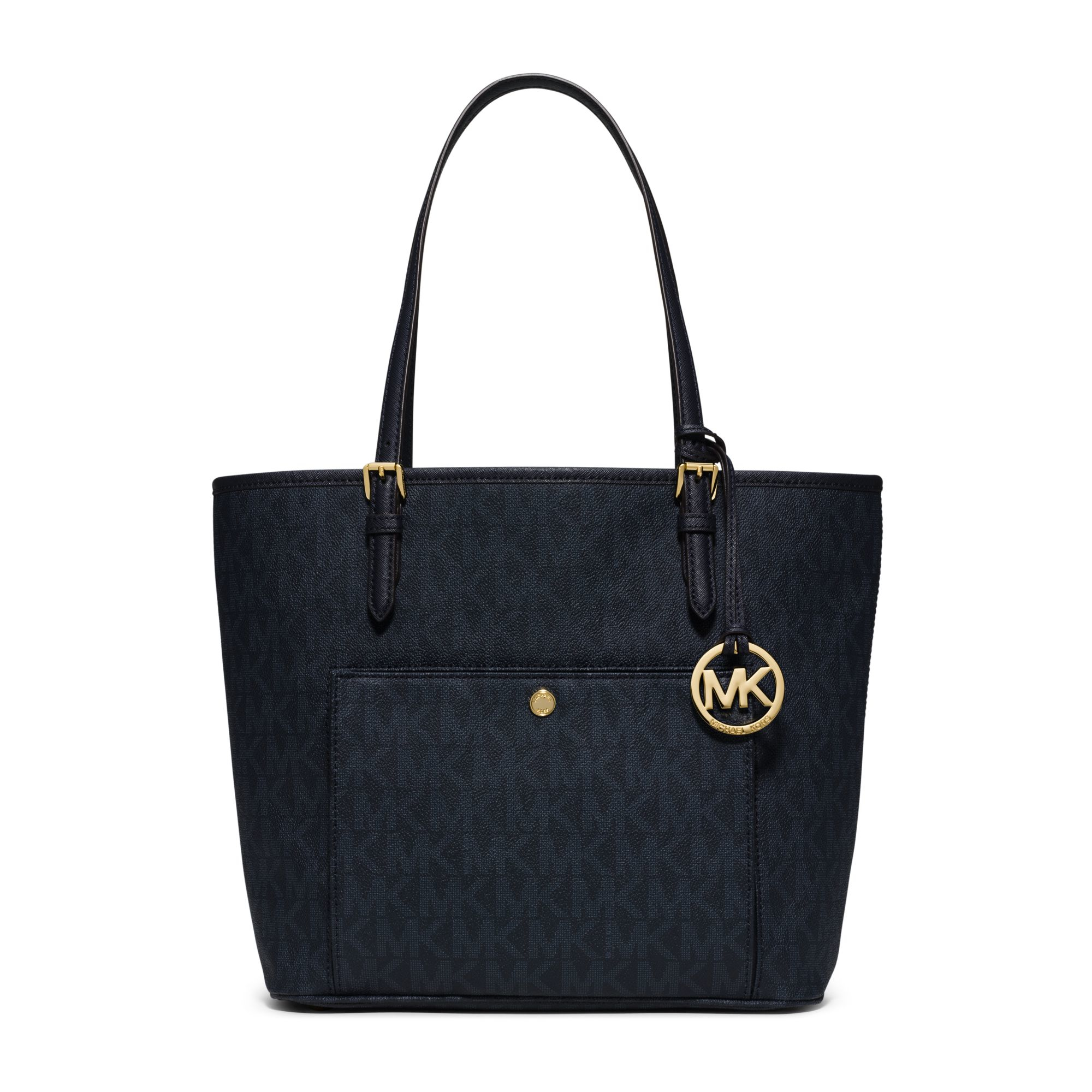 290eafb940c0 Michael kors Jet Set Large Logo Tote in Blue