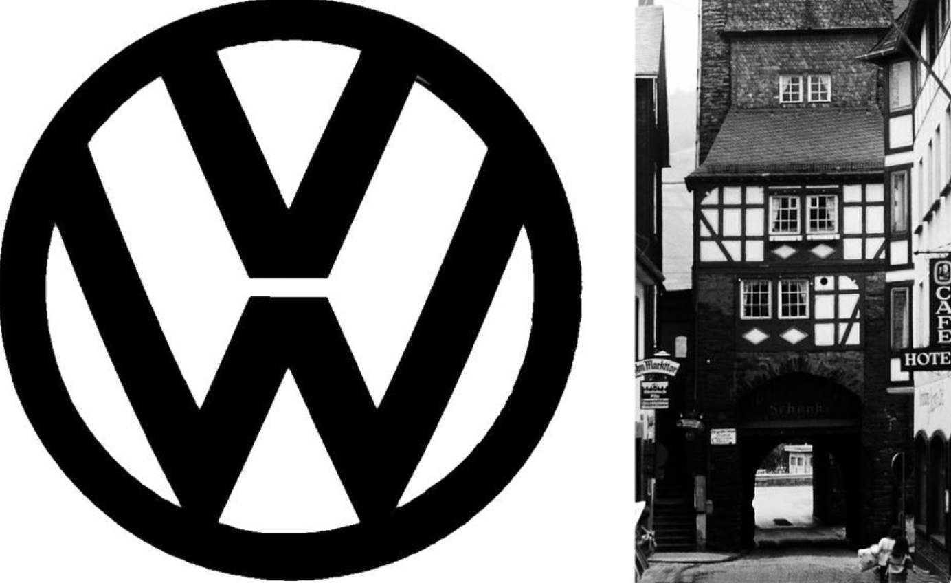 Vw black and white Logos