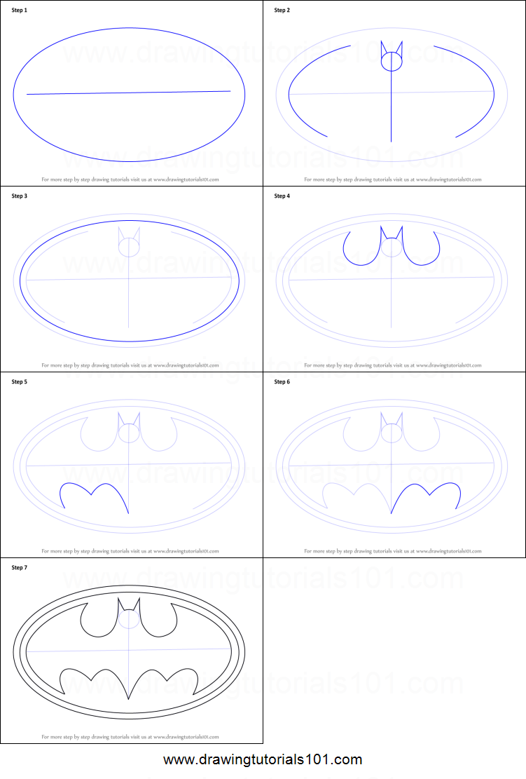 How To Draw Batman Logos
