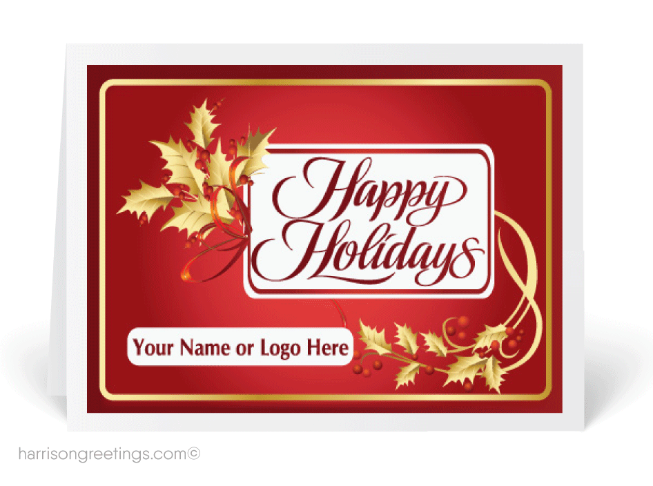 Holiday greeting cards business Logos