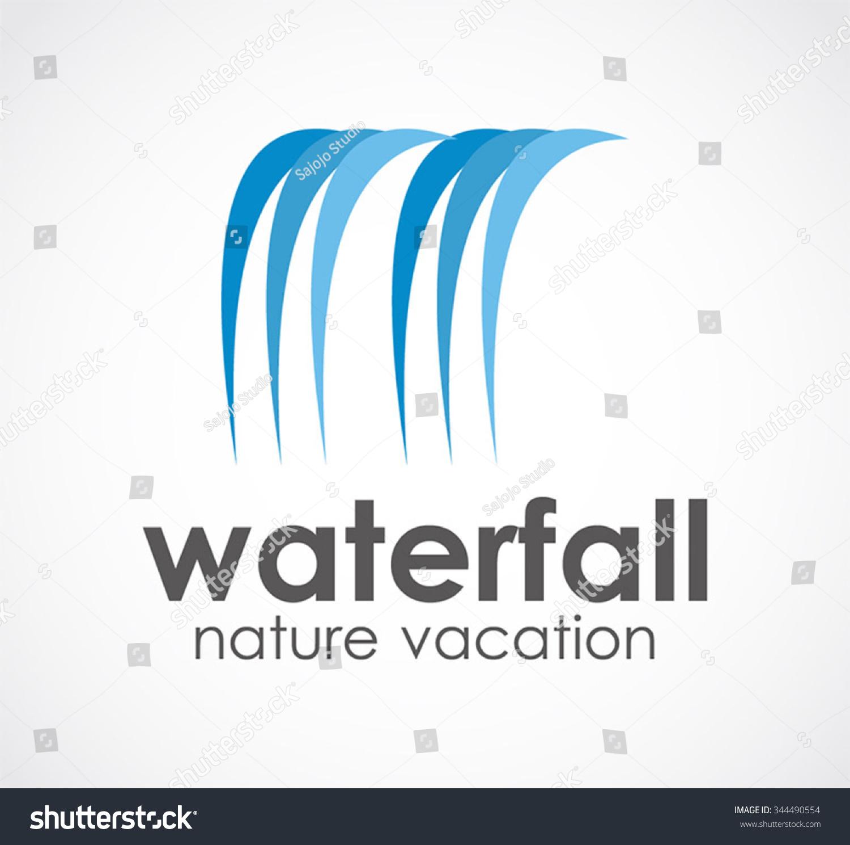 Waterfall logos waterf natural vacation abstract vector logo stock ccuart Gallery