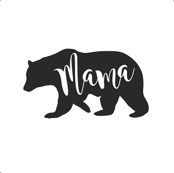 Mama Bear IRON ON Transfer Decal Heat Vinyl