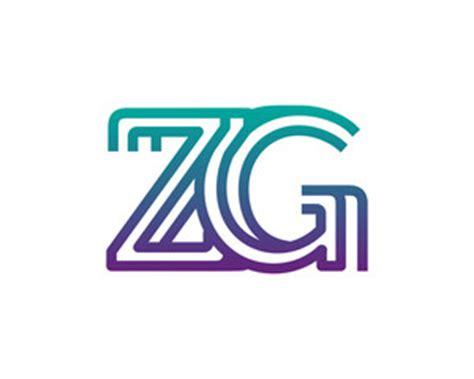 Monogram ZG Logo Design (Graphic) by Greenlines Studios