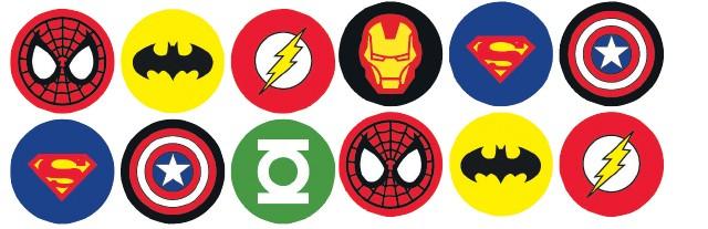 Ironman Superhero Logos