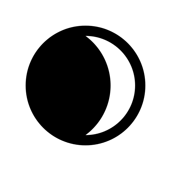 Crescent moon Logos