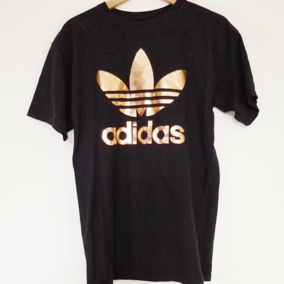 f7b3d529aefc Adidas shirt gold Logos