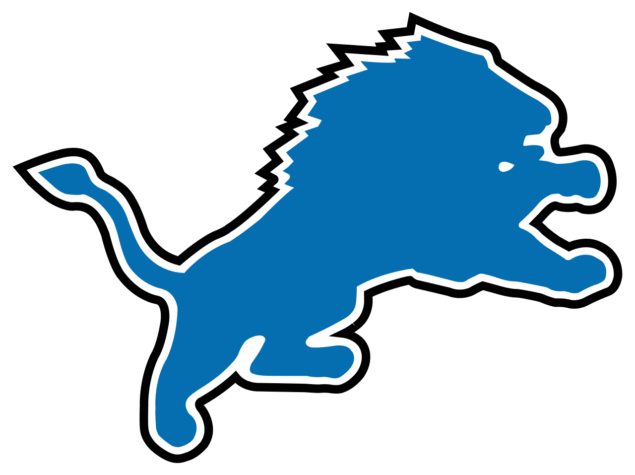 Detroit lions old Logos