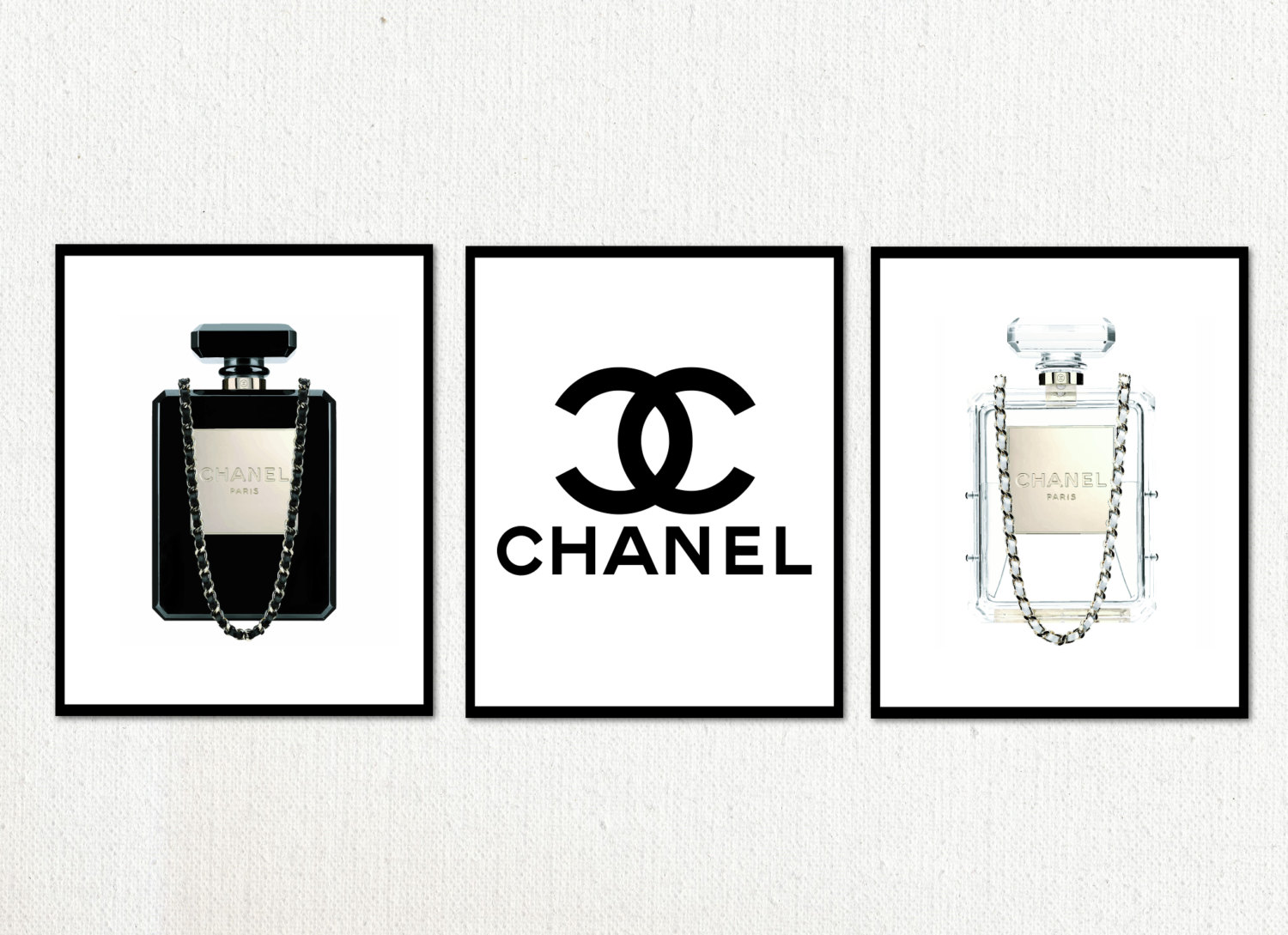 It is an image of Printable Chanel Logo for transparent