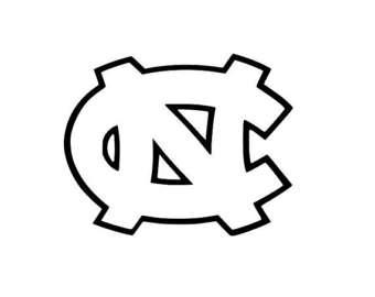 north carolina tar heels coloring pages | Black and white unc Logos