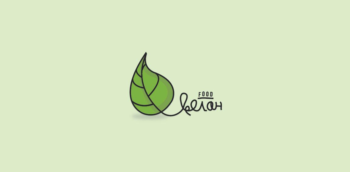 cyrillic vegan food logo logomoose logo inspiration