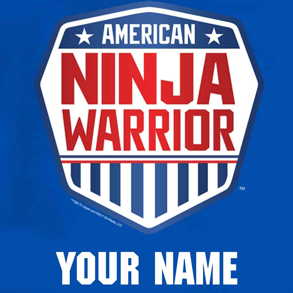 957c1ecb8 Personalized American Ninja Warrior Toddler Royal Blue T, Shirt