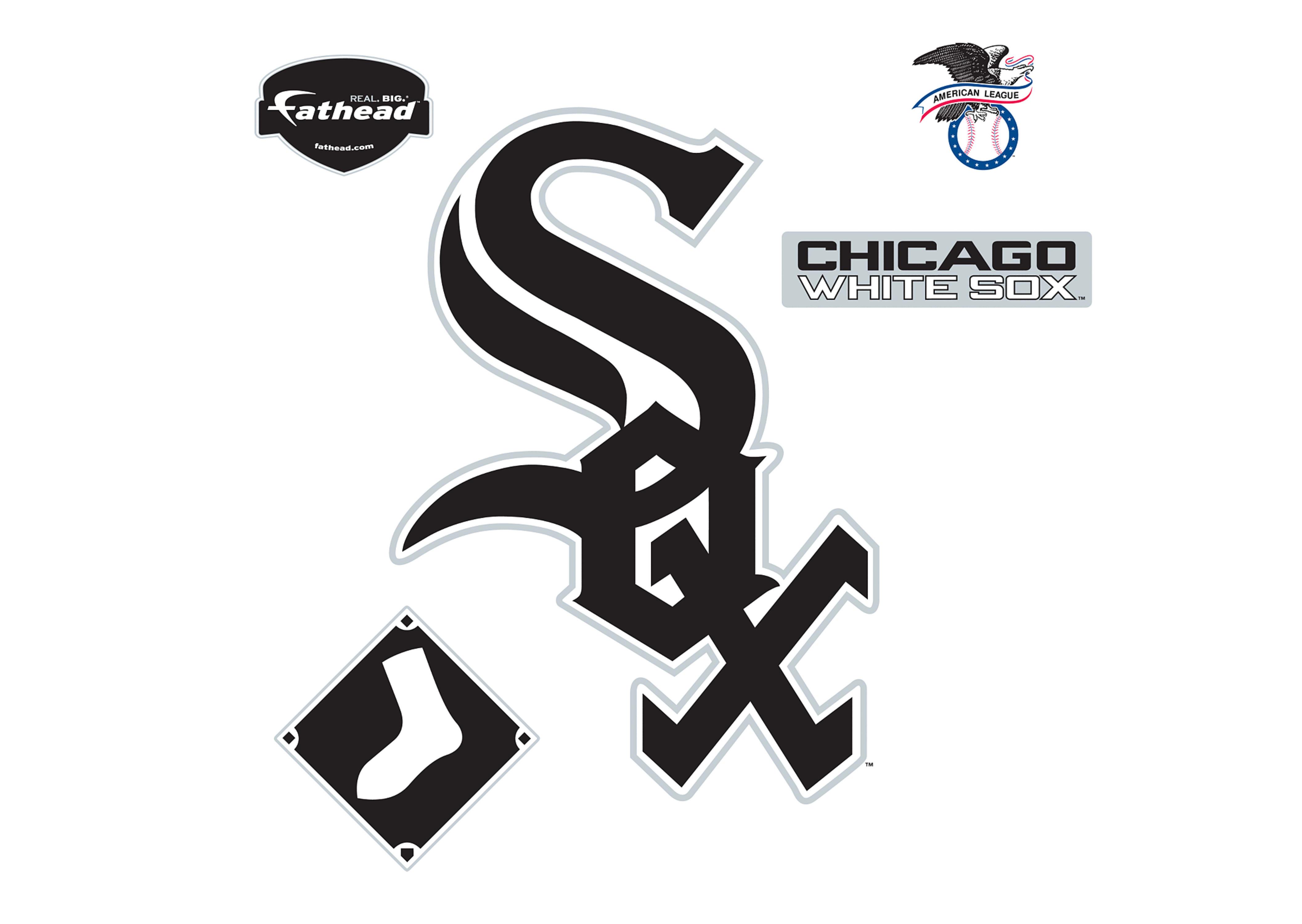49df2264174 Chicago White Sox Logo W, Decal, Shop Fathead® for .