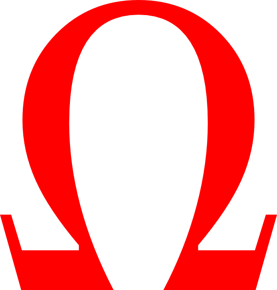 Logo With Red Omega Symbol Awesome Graphic Library