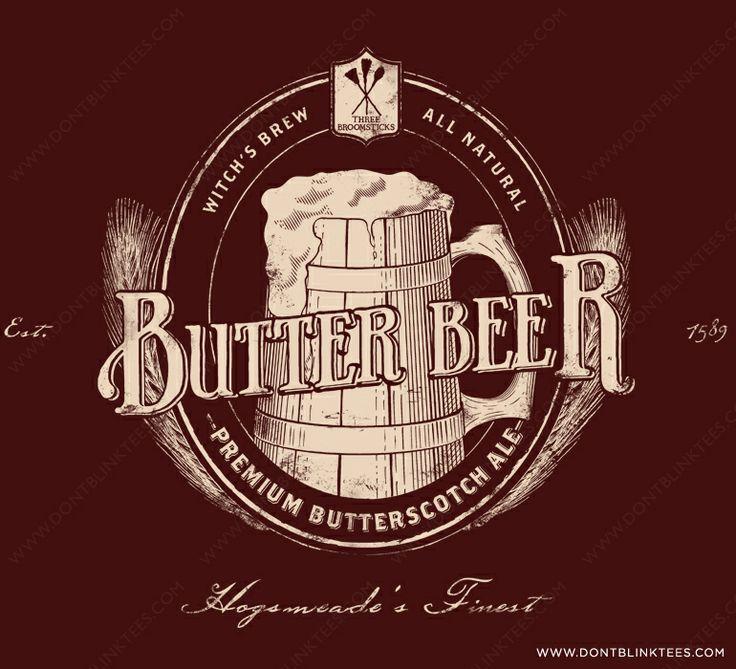 Harry Potter Butterbeer Logo Butterbeer Logos