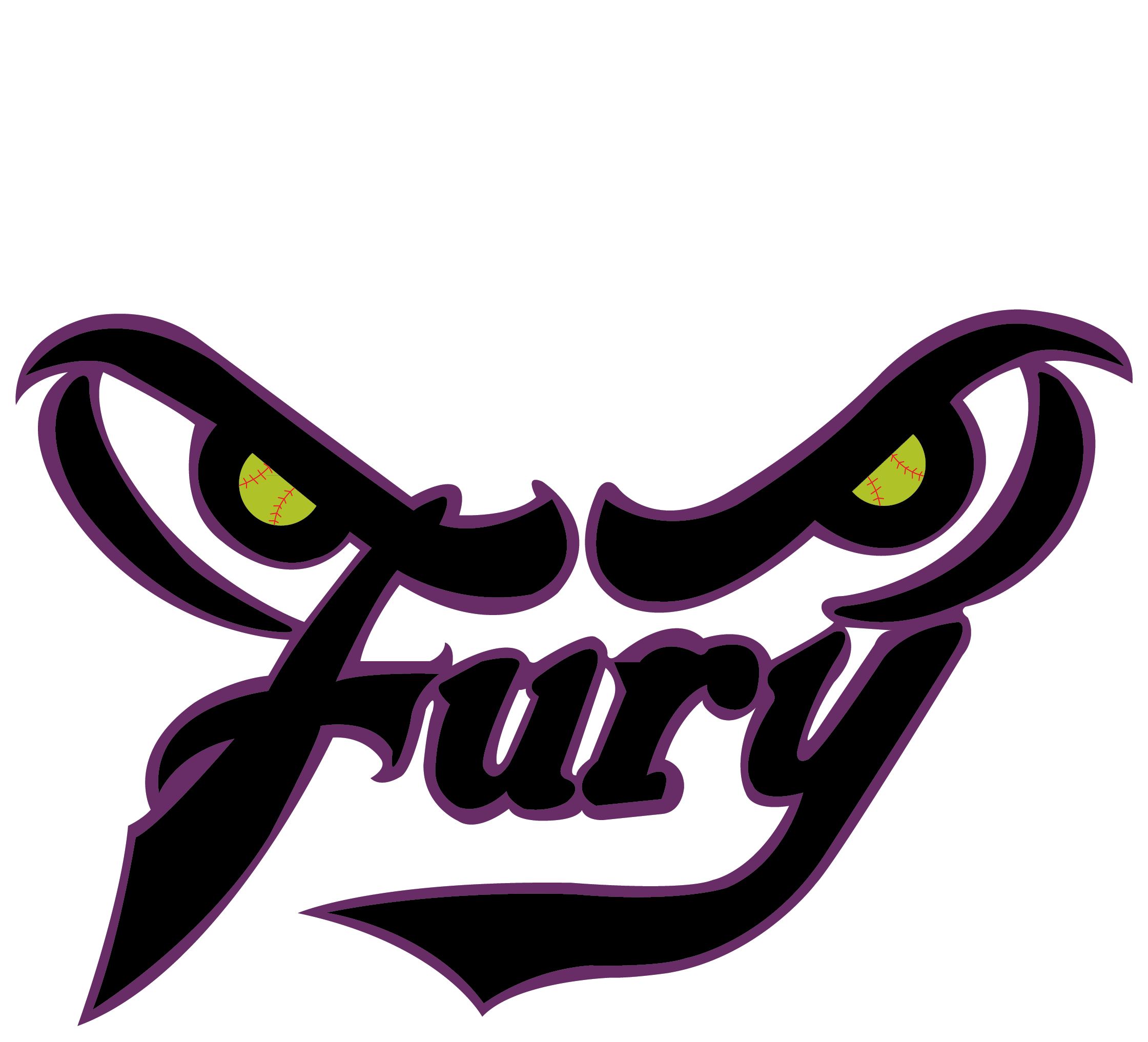 Fury softball Logos