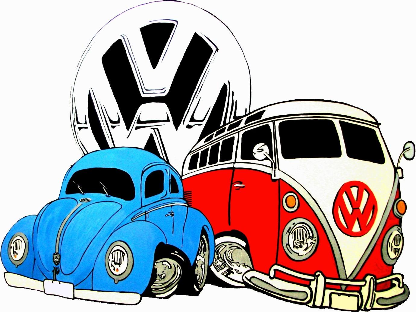 Vintage vw logos