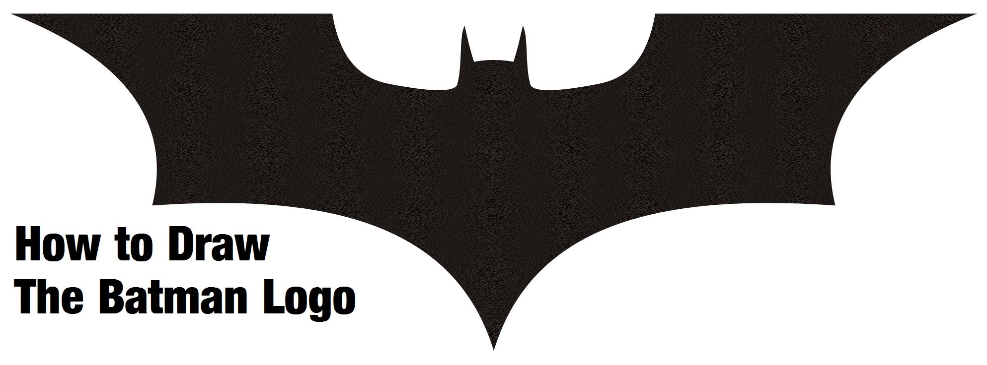How To Draw Batman Logos