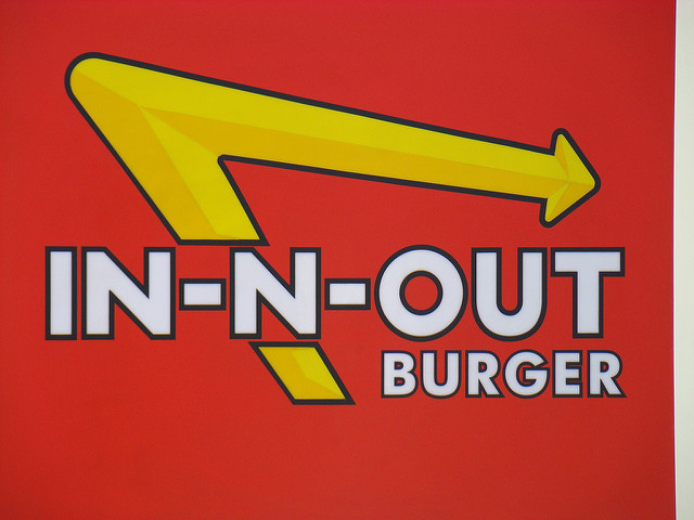 In and out burger Logos