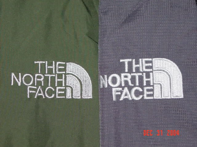 Fake North Face Logos