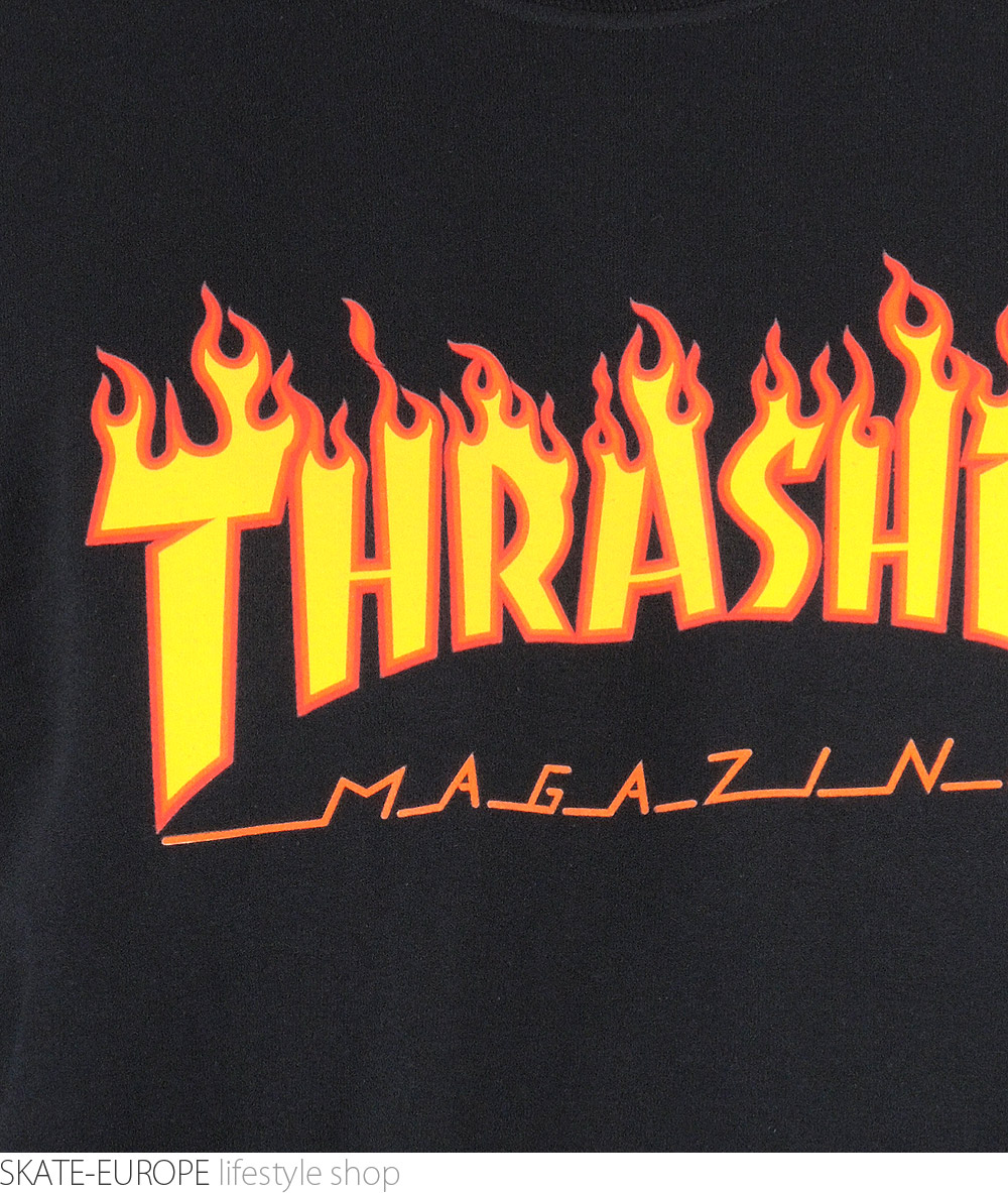 63d278eb Longsleeve THRASHER, FLAME LOGO BLACK, Skateshop Skate .