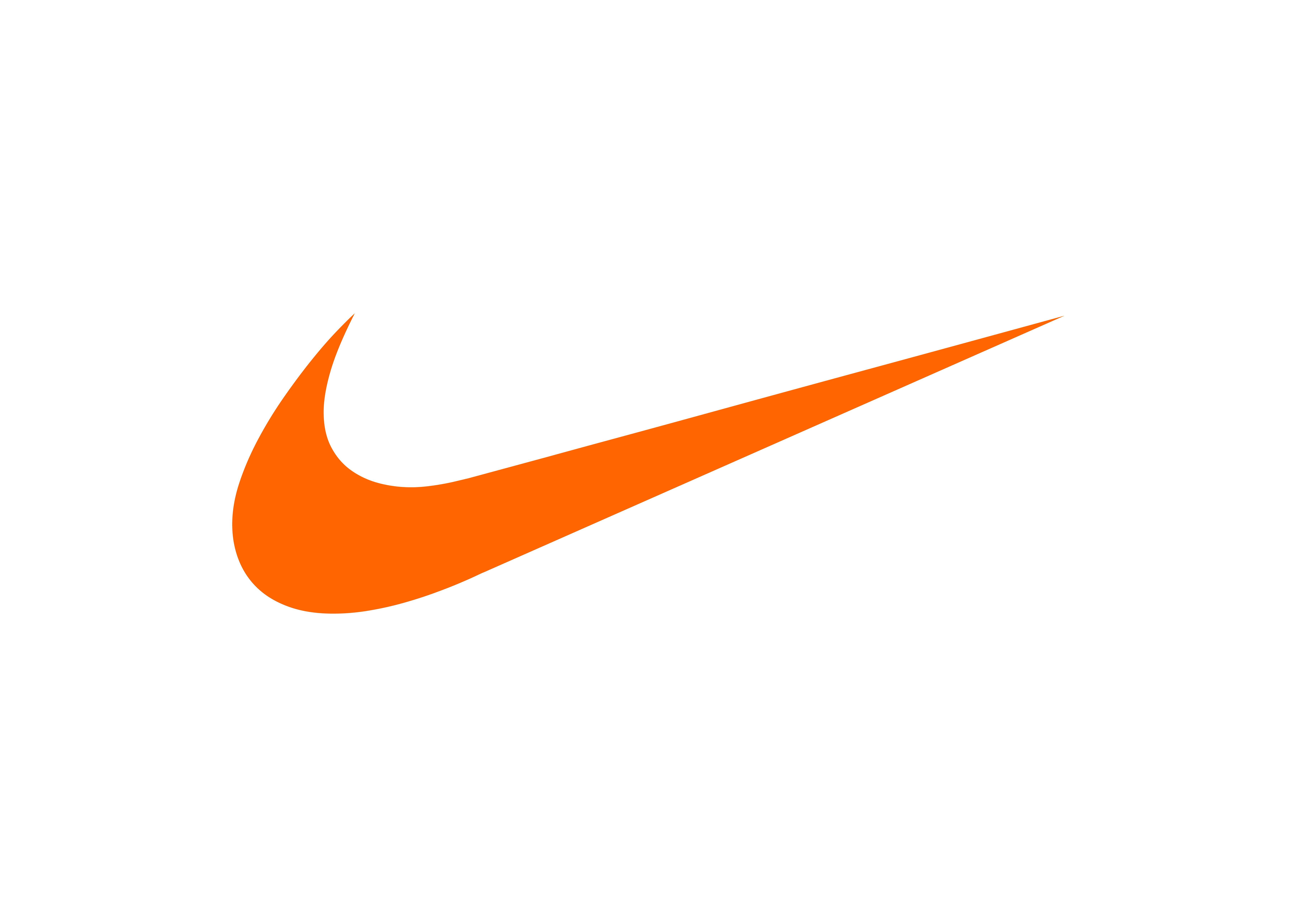 Nike orange swoosh Logos
