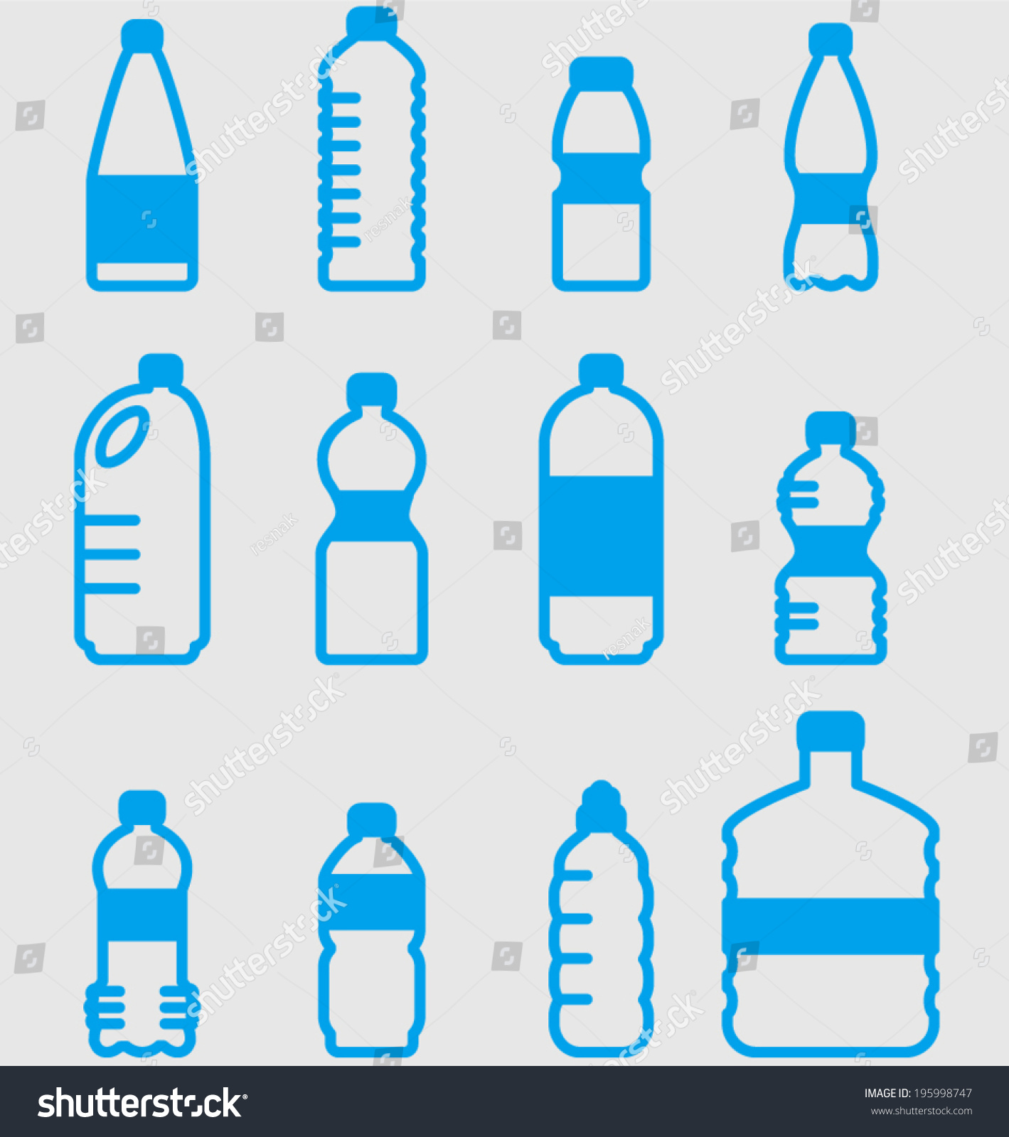 Plastic bottle Logos