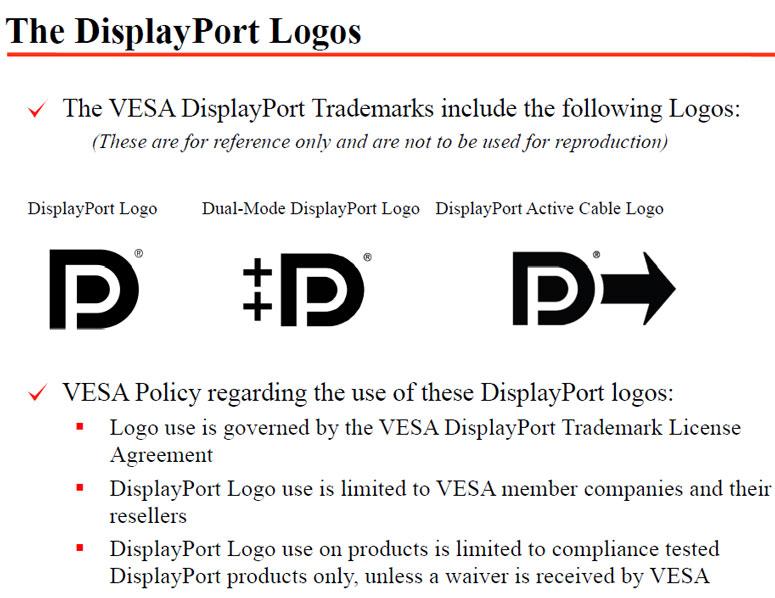 Displayport Logos