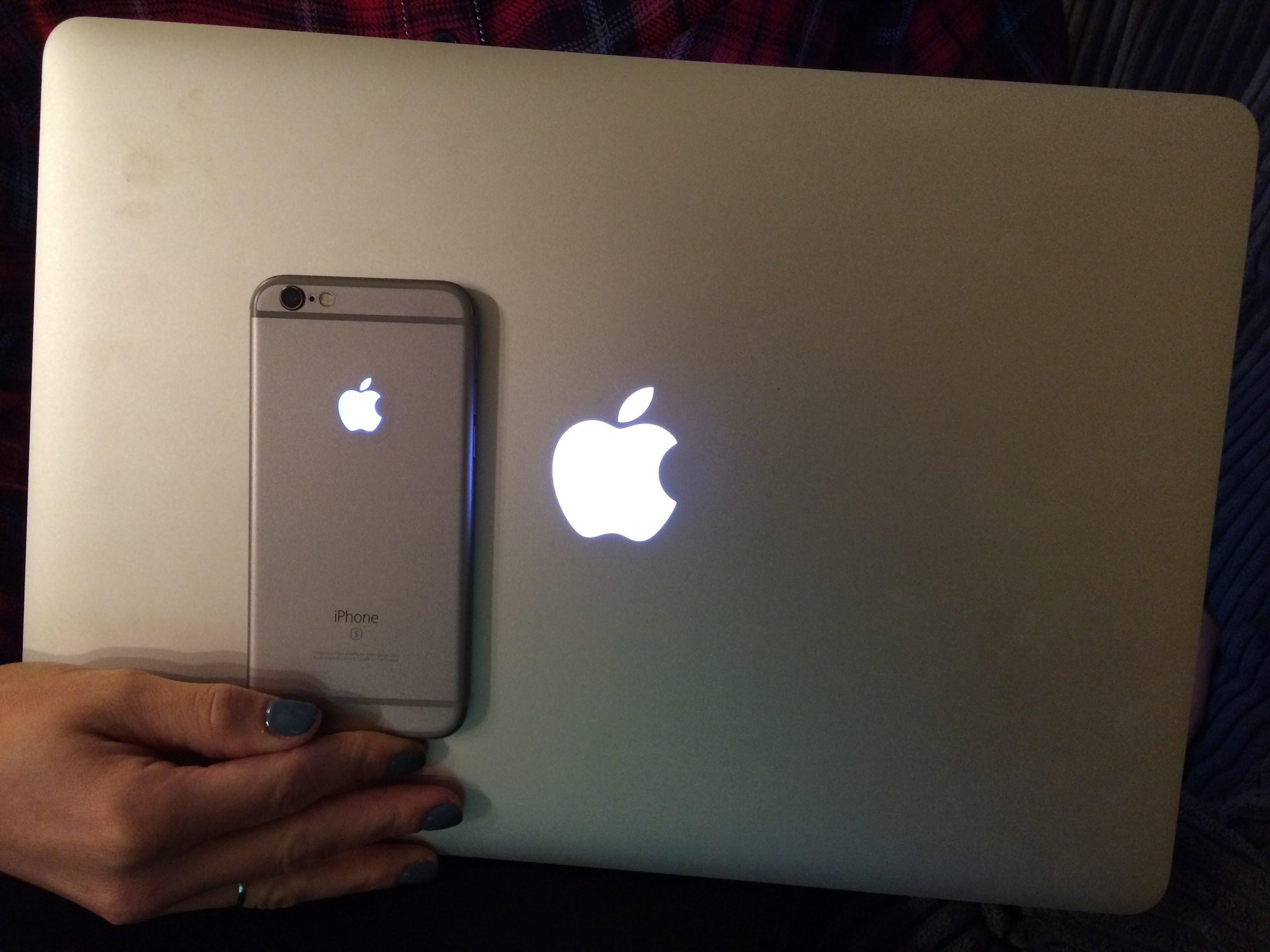 promo code 0cdc5 4f999 Light up apple Logos