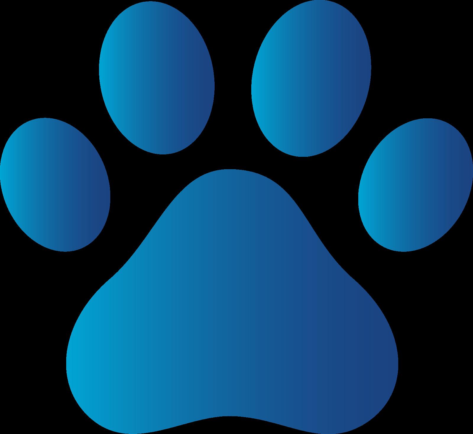 Blue paw Logos