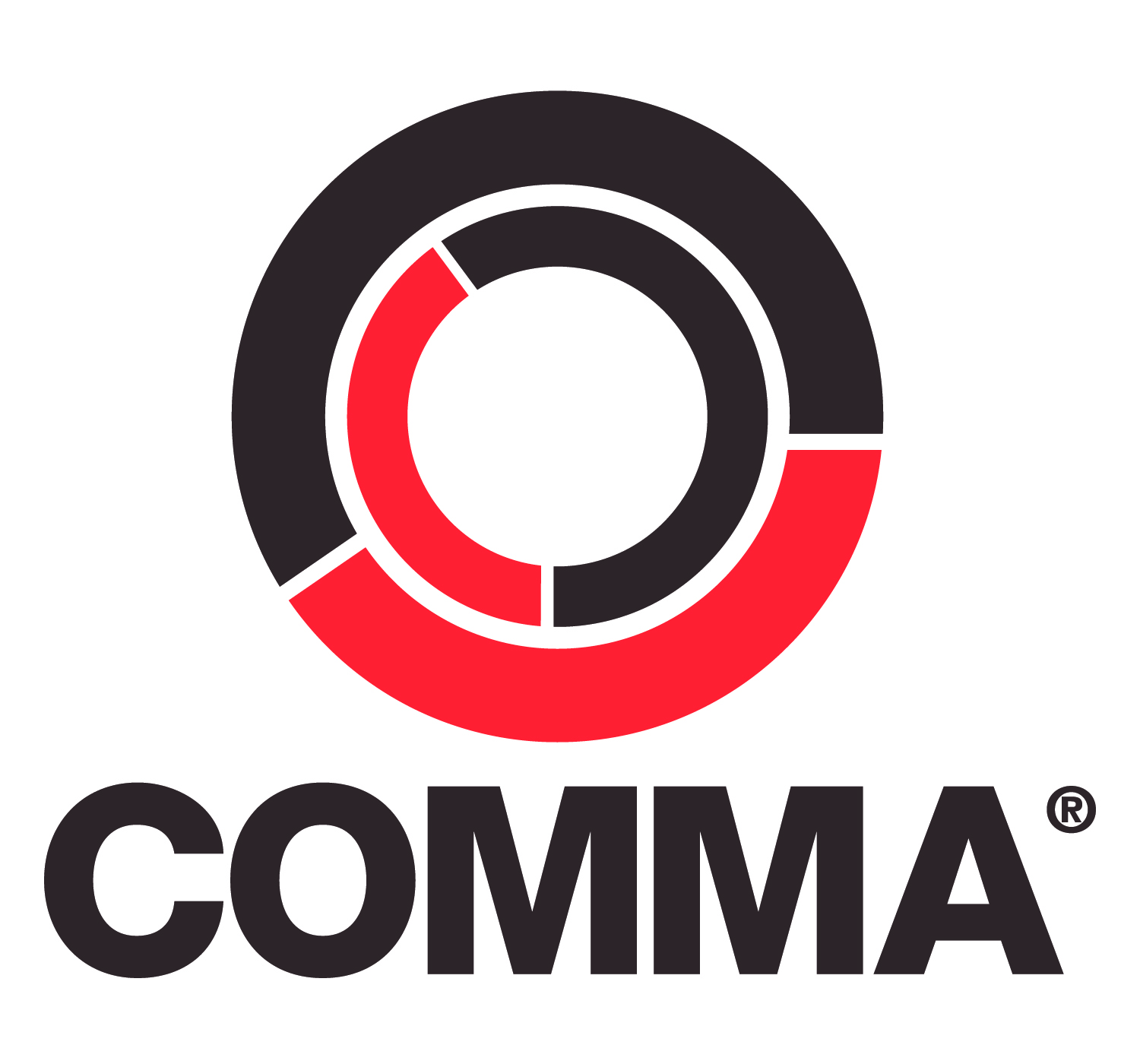 red comma logos