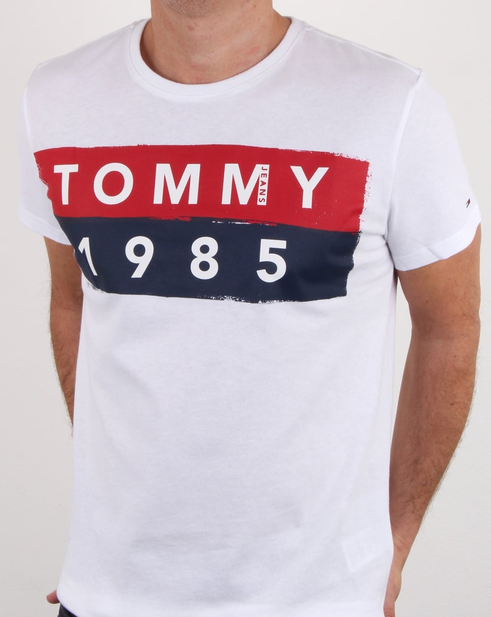 d612a135 Tommy Hilfiger 1985 Logo T Shirt White,tee,cotton,crew .