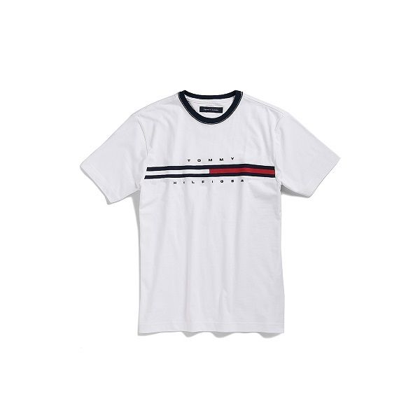 40ba78c88e7fd Tommy Hilfiger Mens Crew Neck T, shirt Short Sleeve Graphic .