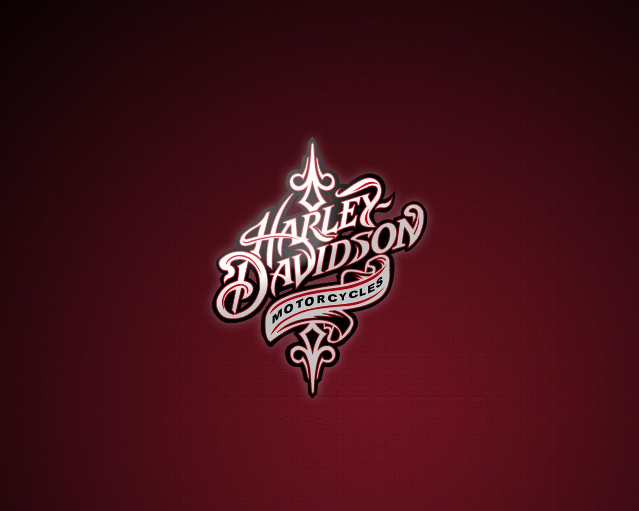 Pink Harley Davidson Logos Motorcycle